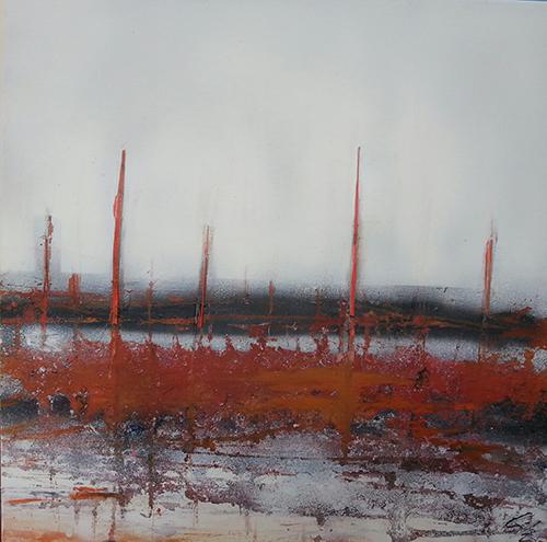 3Rare Landscapes'' 7tecnica mixta sobre lienzo 50x50 2013