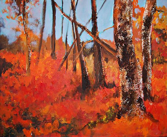 Ambroz VIII Serie Los Guardianes del Bosque 2007  81 x 100 cm Tecnica mixta s lienzo  Coleccion Particular