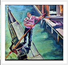 El Gondolero 81 x 100 cm Fuera de Series 2005 T Mixta s lienzo