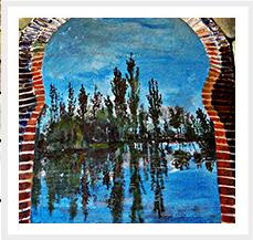 Mural El Ejido a traves de la ventana 2002 185 x 140 cm