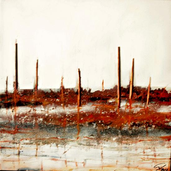 Rare Landscape 8  Serie ExteriorInteriorExpresionismo 60 x 60 cm 2012 Tecnica Mixta sobre lienzo.