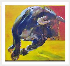Toro 1 Serie Toros 81 x 100 cm 2009 T mixta s lienzo