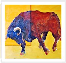 Toro IV Serie Toros 60 x 73 cm 2010 Tecnica mixta s lienzo