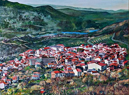 El-Torno-y-el-Valle-del-Jerte-Serie-Obras-antiguas--114-x-146-cm-Oleo-sobre-lienzo--Coleccion-CR-El-Regajo-Esp